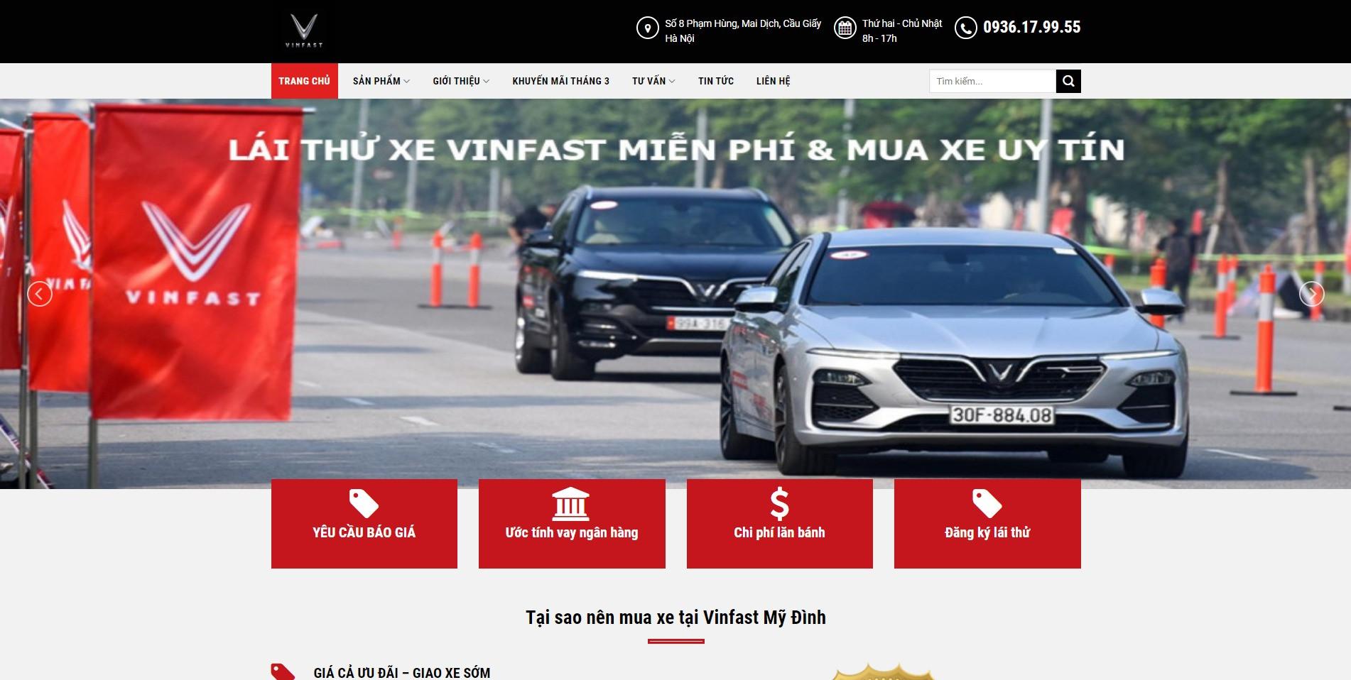 Trang chủ Website ô tô Vinfast