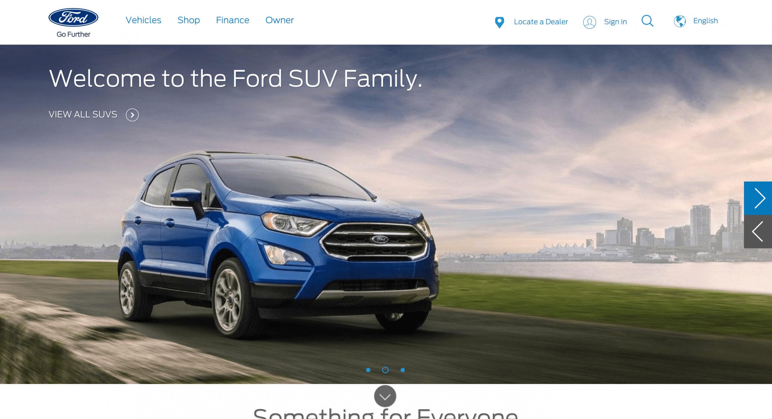 Trang chủ Website ô tô Ford